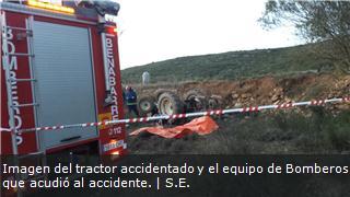 Muere un vecino de Camporrells (Huesca) al volcar su tractor