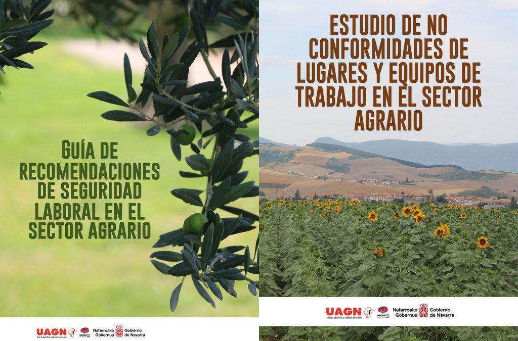 UAGN elabora un estudio, un díptico y una guía para analizar los centros, condiciones y equipos de trabajo de las empresas agrarias y ganaderas de Navarra