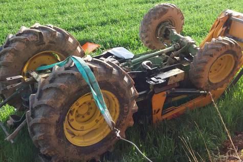 Muere un joven de 23 años en Fuentes de Jiloca al volcar el tractor que conducía