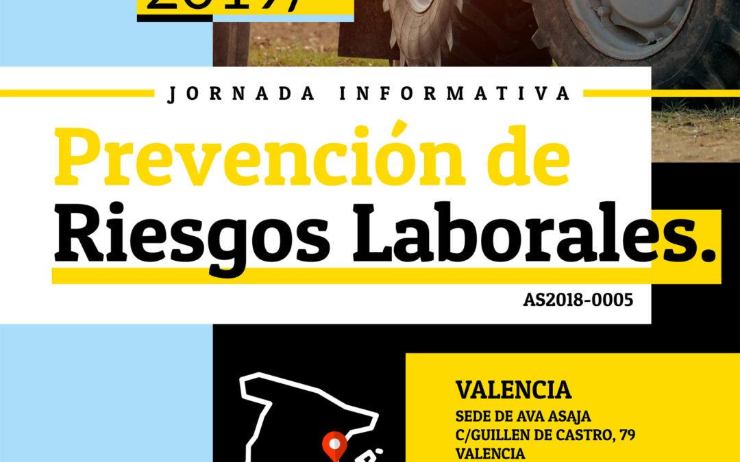 Asaja organiza una jornada informativa sobre Prevención de Riesgos Laborales en Valencia 5/12/2019