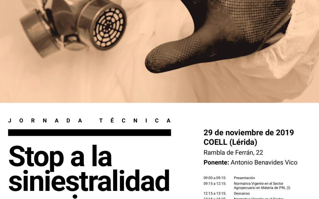 Asaja organiza una jornada técnica sobre STOP a la Siniestralidad Agraria en Coell, Lérida 29/11/2019